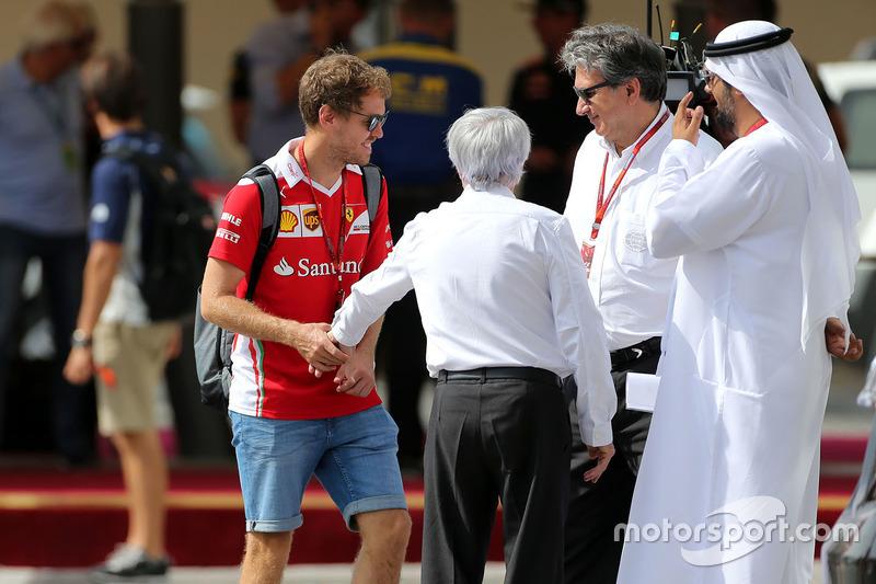 Sebastian Vettel, Scuderia Ferrari and Bernie Eccelstone