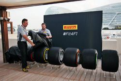Mario Isola, Pirelli Racing Manager and Paul Hembery, Pirelli Motorsport Director reveal the 2017 Pi