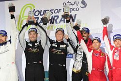 LMGTE Am Podium: first place #88 Proton Racing Porsche 911 RSR: Khaled Al Qubaisi, David Heinemeier Hansson, Patrick Long