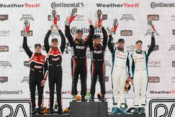 GS podium: winners Dean Martin, Jack Roush Jr., second place Dillon Machavern, Dylan Murcott, third