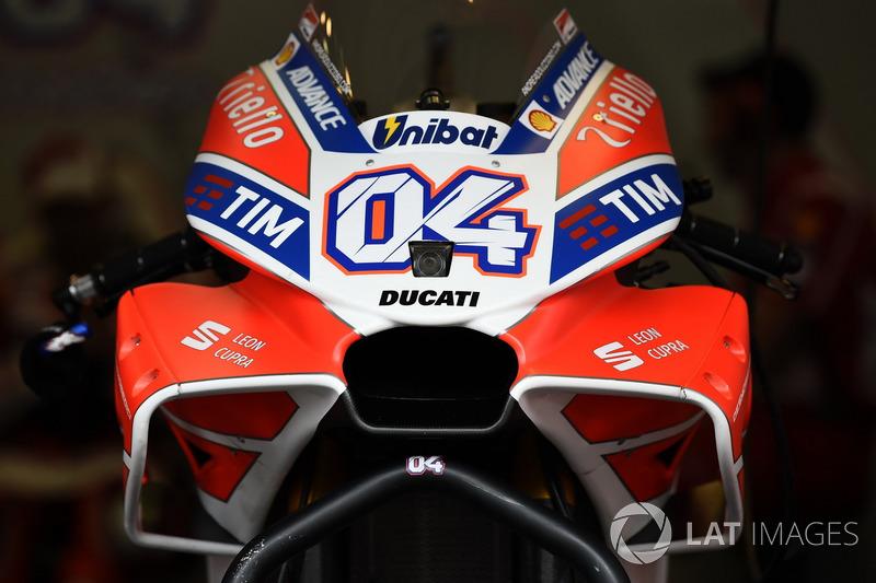Detail fairing aerodinamika Andrea Dovizioso, Ducati Team