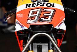 La nuova carena sulla moto di Marc Marquez, Repsol Honda Team
