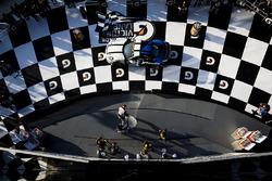 Podium GS: race winners Cameron Cassels, Trent Hindman, Bodymotion Racing, second place Marc Miller, Till Bechtolsheimer, CJ Wilson Racing, third place Russel Ward, Damien Faulkner, CJ Wilson Racing