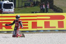 Lorenzo Savadori, Milwaukee Aprilia World Superbike Team crash