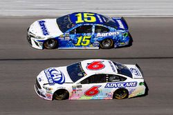 Trevor Bayne, Roush Fenway Racing Ford and Michael Waltrip, Premium Motorsports Toyota