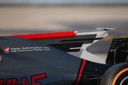 Haas F1 Team VF-17 engine cover detail