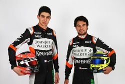 Esteban Ocon, Sahara Force India F1 Team con su compañero Sergio Pérez, Sahara Force India F1