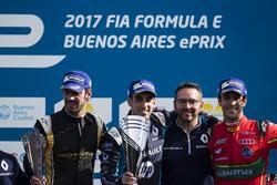 Podyum: 1. Sébastien Buemi, Renault e.Dams; 2. Jean-Eric Vergne, Techeetah; 3. Lucas di Grassi, ABT