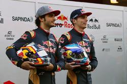 Max Verstappen, Scuderia Toro Rosso en teamgenoot Carlos Sainz Jr., Scuderia Toro Rosso