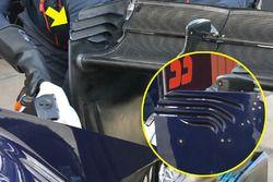 Détails de l'aileron arrière de la Toro Rosso STR11
