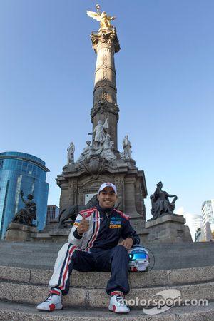 Salvador Durán, Team Aguri am Ángel de la Independencia in Méxiko-City