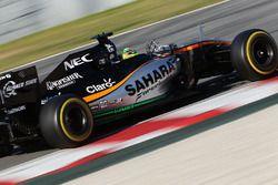 Sergio Perez, Sahara Force India F1 VJM09 avec des capteurs