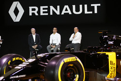 Jerome Stoll, Renault Sport F1 president with Cyril Abiteboul, Renault Sport F1 managing director an