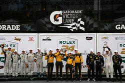 Podium PC: Winner #85 JDC/Miller Motorsports ORECA FLM09: Chris Miller, Mikhail Goikhberg, Stephen S