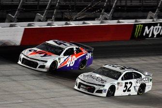 Jimmie Johnson, Hendrick Motorsports, Chevrolet Camaro Ally Throwback and J.J. Yeley, Rick Ware Racing, Ford Mustang JACOB COMPANIES