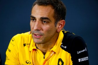 Cyril Abiteboul, Managing Director, Renault F1 Team, in the Press Conference