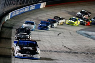 Race Winner Brett Moffitt, GMS Racing, Chevrolet Silverado Midnight Moon Moonshine