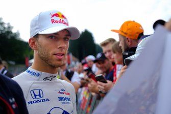 Pierre Gasly, Toro Rosso with fans