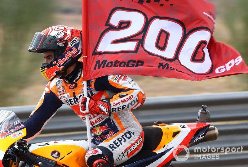 En Aragón, Marc disputó su gran premio 200º y se convirtió en el piloto más joven en alcanzar esa cifra. Tenía 26 años y 217 días.
