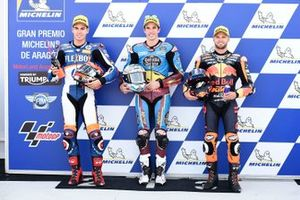 Polesitter Alex Marquez, Marc VDS Racing, second place Augusto Fernandez, Pons HP40, third place Brad Binder, KTM Ajo