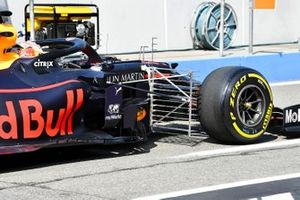 A sensor fitted to the car of Max Verstappen, Red Bull Racing RB15