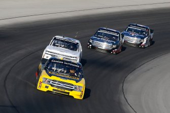 Grant Enfinger, ThorSport Racing, Ford F-150 Champion Power Equipment and Ross Chastain, Niece Motorsports, Chevrolet Silverado Niece