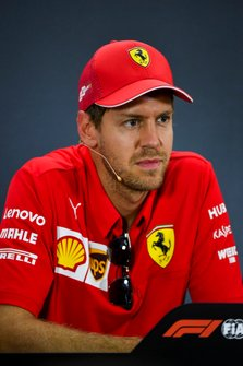 Sebastian Vettel, Ferrari tijdens de persconferentie