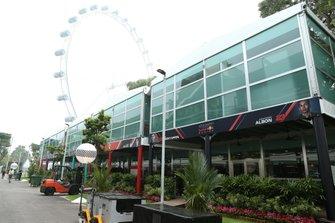 The Red Bull Honda hospitality area
