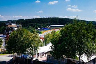 Panoramica dell'Eau Rouge al GP di Belgio