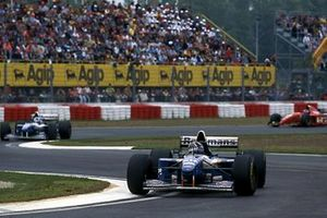 Damon Hill, Williams FW17 devant David Coulthard, Williams FW17