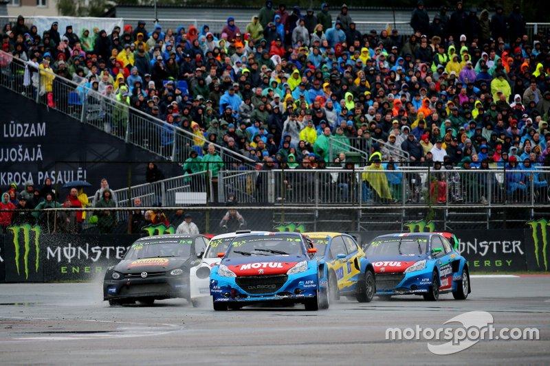 Rallycross-Action in Riga