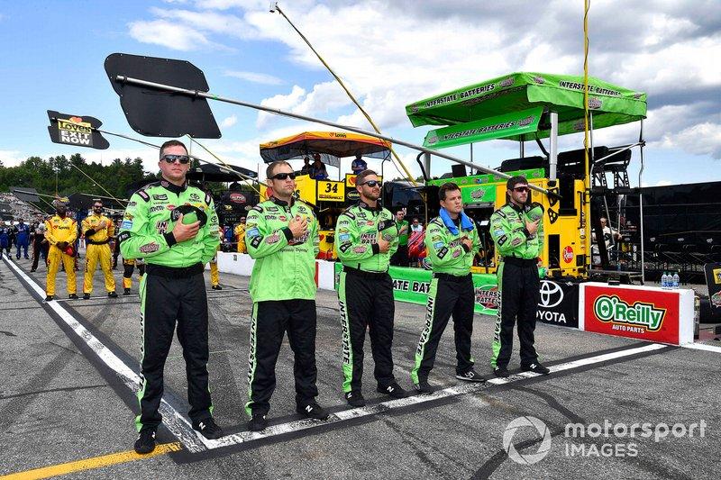 Kyle Busch, Joe Gibbs Racing, Toyota Camry M&M's Interstate Batteries crew