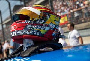 Helmet of Robin Frijns, Audi Sport Team Abt Sportsline