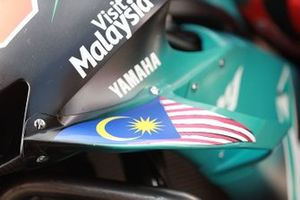 Yamaha SRT's Yamaha front detail with the Flag of Malaysia