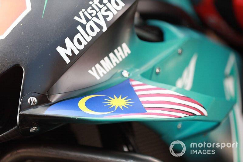 Dettaglio della Yamaha di Fabio Quartararo, Petronas Yamaha SRT