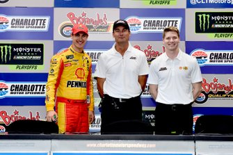 Joey Logano, Tim Cindric, and Josef Newgarden