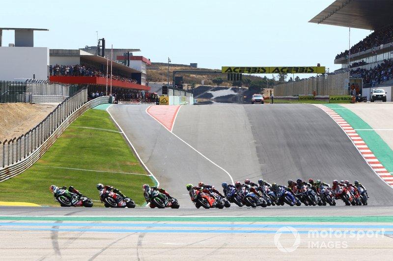 Partenza della gara 2 ad Algarve
