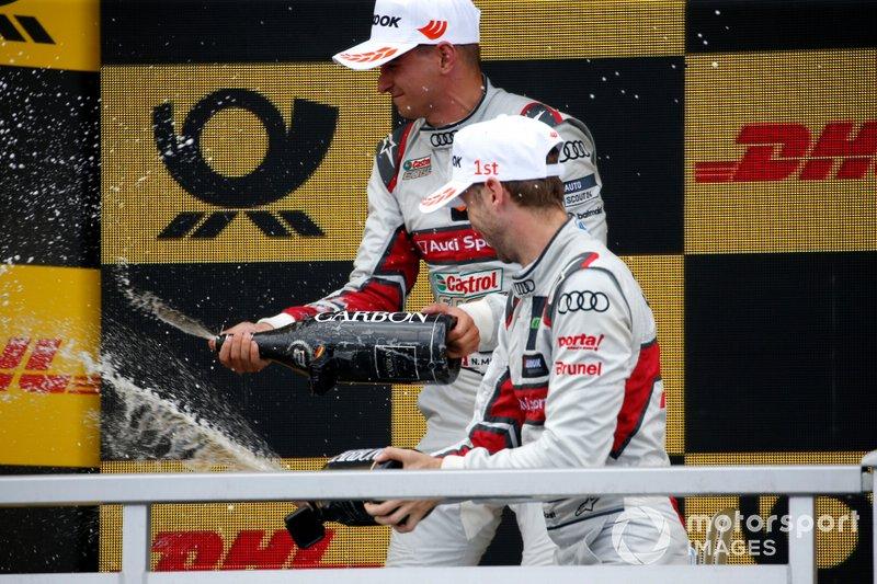 Podio: Ganador René Rast, Audi Sport Team Rosberg, segundo clasificado Nico Müller, Audi Sport Team Abt Sportsline
