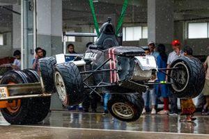 The damaged car of Manav Sharma