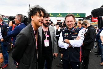 Christian Horner, Team Principal, Red Bull Racing, with some VIP guests