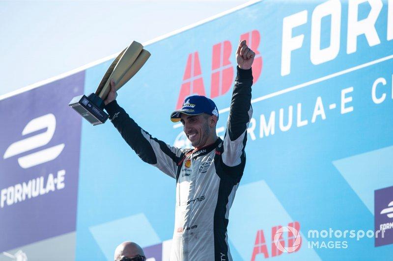 Sébastien Buemi, Nissan e.Dams festeggia la seconda posizione in campionato sul podio