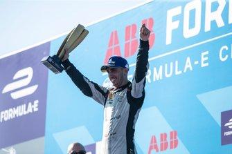 Sébastien Buemi, Nissan e.Dams celebrates 2nd in the championship on the podium