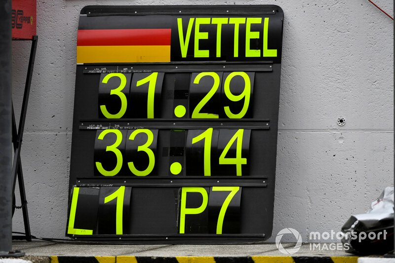 Pit board per Sebastian Vettel, Ferrari