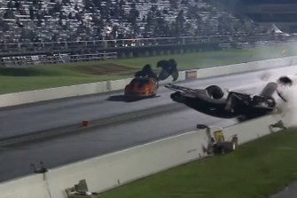 Chad Green NHRA Crash