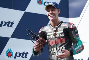 Podium: second place Fabio Quartararo, Petronas Yamaha SRT