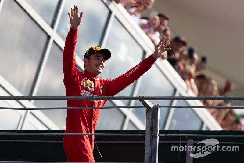 Race winner Charles Leclerc, Ferrari