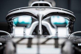 El Halo en el coche de Lewis Hamilton, Mercedes AMG F1 W10