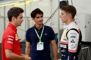 Charles Leclerc, Ferrari, Lorenzo Tolotta-Leclerc et Arthur Leclerc