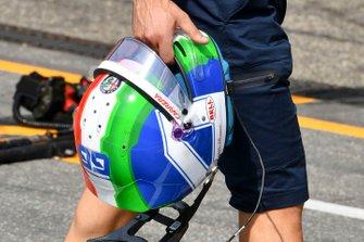 El casco de Antonio Giovinazzi, Alfa Romeo Racing