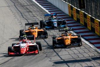 Jehan Daruvala, PREMA Racing, Alessio Deledda, Campos Racing and Alexander Peroni, Campos Racing